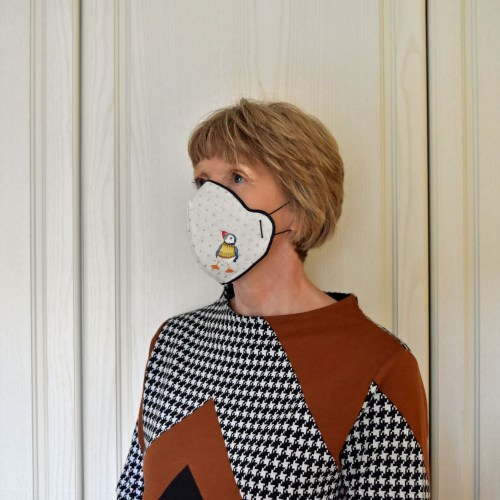 Face Mask Woolly Puffins 2
