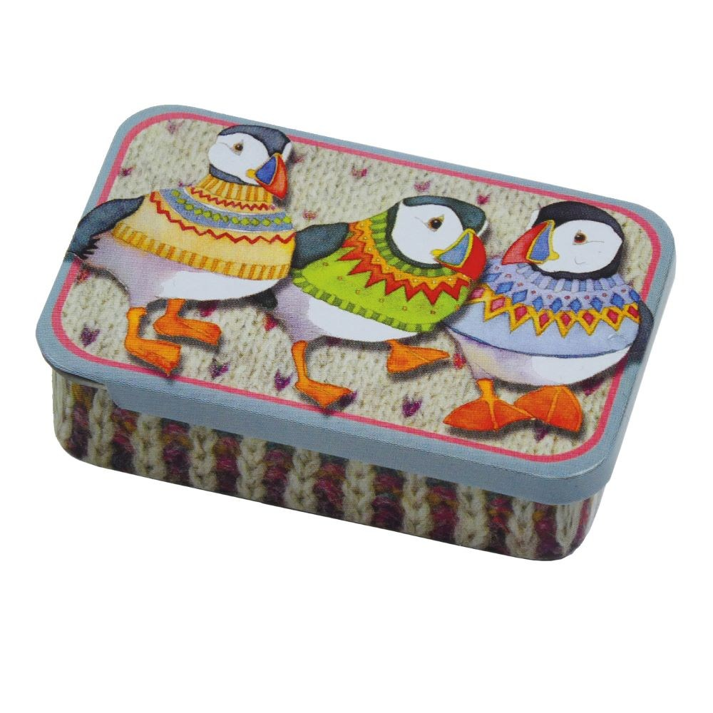 PT114 Pocket Tin Woolly Puffins